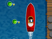 لعبة سباق مراكب بحرية