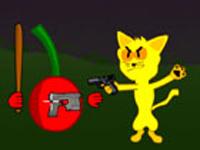 لعبة اكشن القط المحارب الخطير