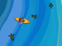 لعبة اعادة السلاحف الي رمال الشاطئ