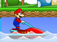 لعبة ماريو على الجت سكي