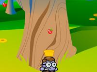 لعبة جمع تفاحات الحروف المتساقطة بسلة الصبي الصغير