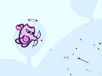 لعبة الوحش الطائر وإسقاط البالونات بالأسهم السريعة
