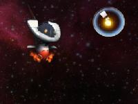لعبة الآلي الطائر في الفضاء الواسع وجمع الطاقة المصغرة