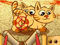 العاب مغامرات لعبة مغامرات ورمي القطط داخل المغارات