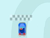 العاب لعبة سيارات وقيادة السيارة الصغيرة في مسارات الجليد المتزحلقة الخطيرة