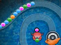 لعبة زوما رمي جواهر الأصداف الملونة بالترتيب