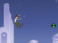 لعبة بن تن والقفزات المدهشة فوق الصخور