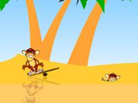 لعبة سرعة القردة المجانين وجمع جوز الهند