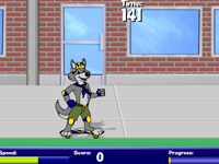 لعبة رياضة الذئب المتزلج الرائع
