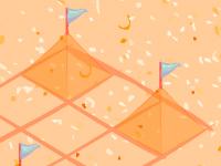 لعبة بناء القلاع الرملية الجميلة