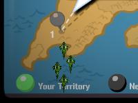 لعبة مغامرات والطائرة المقاتلة في الاراضي الصحراوية