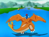 لعبة البوكيمون الرائعة وركوب آش على شانيزار الرائع