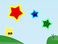لعبة ارنب الإشراق الأصفر وجمع النجوم الملونة