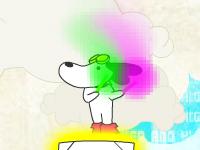 لعبة الكلب الحركي والقفز المتواصل فوق السماعات