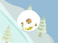 لعبة اللكرة الثلجية المتحدرجة