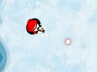 لعبة البطاريق واطلاق الكرات الثلجية