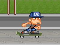 لعبة الشاب اللطيف والتزلج في الشوارع