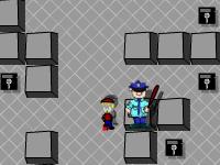 لعبة اللص المحترف والهروب من رجل الشرطة