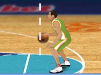 لعبة رياضية كرة السلة والضربات الثابتة