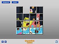 لعبة تركيب صورة سبونج بوب وبسيط