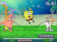 لعبة سبونج بوب والقفز عن الحبل
