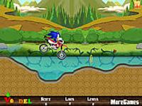 لعبة مغامرة سونيك ع الدراجة السريعة