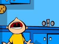 لعبة المخربان في المطبخ والتهام قطع البسكويت