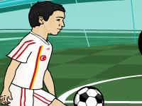 لعبة كرة قدم ومهارات اللاعب المحترف