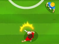 لعبة كرة القدم وجمع القطع النقدية