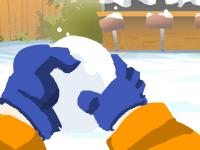 لعبة ناروتو ورمي كرات الجليد