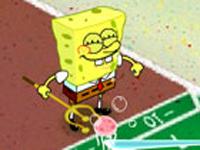 لعبة  سبونج بوب رماية الحبارات الصغيرة