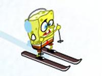 لعبة سبونج بوب سباق على الجليد