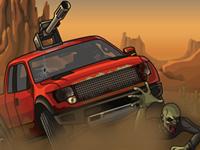 لعبة سيارات دعس الزومبي في الصحراء
