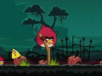 لعبة الطيور الغاضبة في حفلة تنكرية