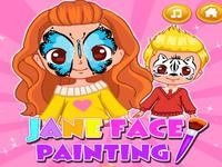 لعبة الوجوه الملونة