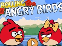 لعبة الطيور الغاضبة و الورود الحمراء