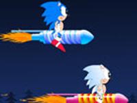 لعبة سونيك السريع وسباق الصواريخ