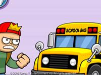 لعبة اللحاق بباص المدرسة