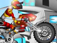 لعبة الدراجة النارية الحمراء
