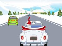 لعبة سيارات بابا نويل