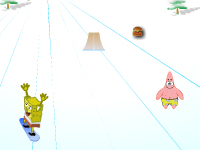 لعبة تزلج سبونج بوب