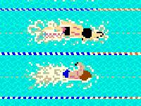 لعبة كلاسيكية والسباحة الخطيرة