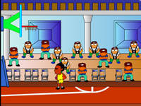لعبة رياضة كرة السلة الخارقة