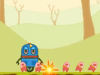 لعبة مغامرات حماية البيض من هجمات المركبة الفضائية