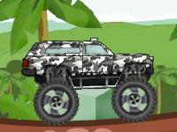 لعبة سيارات والشاحنه في الغابه
