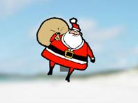 لعبة قفز بابا نويل في الهواء فى عيد الكريسماس