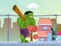 لعبة انتقام الرجل الأخضر هوك من سكان المدينة