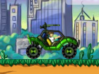 لعبة بن تن وقيادة السيارة الحربية المدرعة