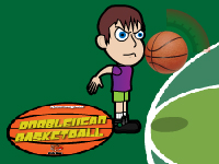 لعبة رياضية كرة السلة الشبابة الرائعة