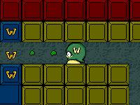 لعبة المخلوق الفضائي العجيب وجمع كرات التغذية الخضراء